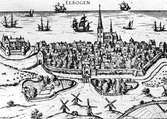 Stadsvy över Malmö ur Samuel von Pufendorfs