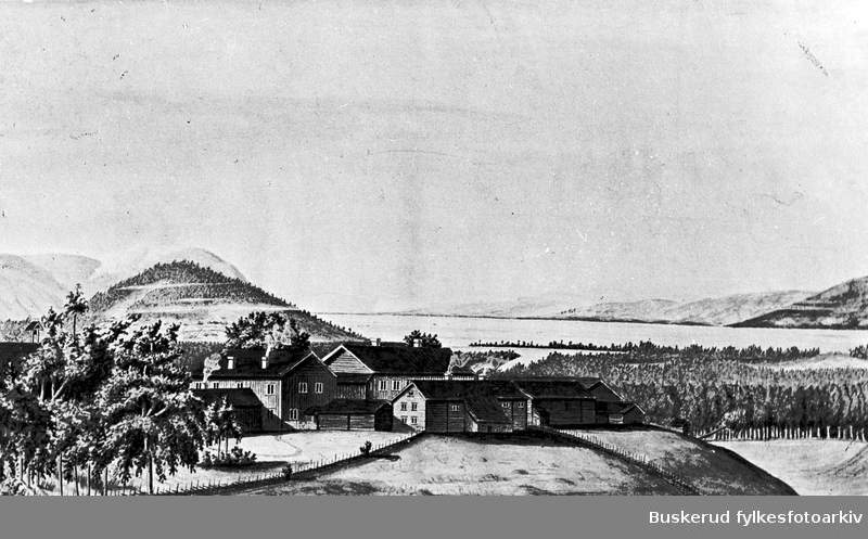 Maleri av Hverven gård    1841      Norderhov (Foto/Photo)