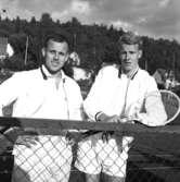 Huskvarnamästerskap i tennis vid Långgatan i Huskvarna på 1960-talet.