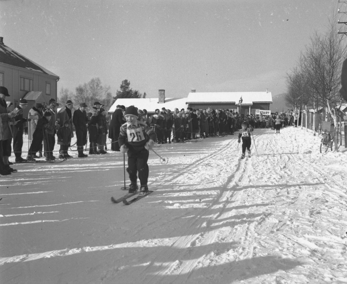 Alvdal, Steien skole, Barn går på ski (Foto/Photo)