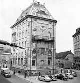 Smålandsbanken, år 1957, vid Hoppets torg i Jönköping.