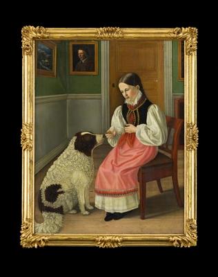 Barnjungfru på Ottenby [Porträtt, helfigur]