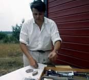 Utgrävningar vid Skedemosse - Antikvarie Ulf Erik Hagberg.