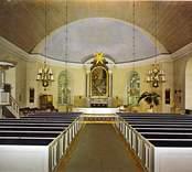 Interiören i Bäckebo kyrka.