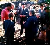 Bild från en publik utgrävning vid Skedemosse.