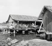 Udden med bodar i östra Eknö.