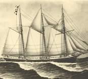 3mskonare från Figeholm. Kapten J.P.Hansson 1912. Original målning i Figeholm,foto H.Sage, Figeholm.