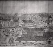 Falsterbo bruk 1866. Teckning av Emil Reinberg.