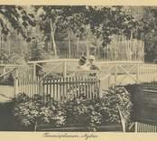 Tennisplanen i Badhusparken.