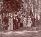 Badsällskap i Nybro Omkring 1892 Studenten: Albert G. Dahl