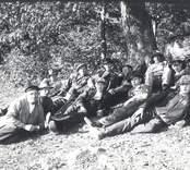 Solstadströms såg.  Stabbläggare.  4. Einar Frodig, Solstadström 8. Johan Blomkvist 9. Albert Sällberg 10. Konrad Johansson, Solstadström 11. Erik Levander, Solstadström