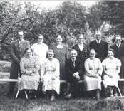 Gruppbild, troligen 1940-tal.