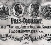 H. Hoffman Oskarshamn, pris - courant.
