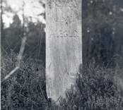 Vägmärke av trä i Aleglo.