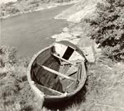 """Marknadsbåten """"Helena"""".  sedd ovanifrån."""