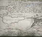 Karta över Döderhult, köpingens plan.