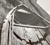 """Marknadsbåten """"Helena"""" av Väderskär, fören.Ovan sedd från styrbords sida."""