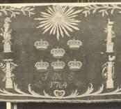Antependium i Loftahammar kyrka från 1764.