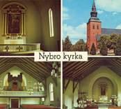 Vykort med motiv från Nybro kyrka.