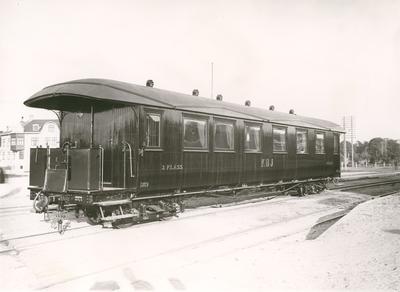 Järnvägsvagn, tillverkad 1917 för Kalmar - Berga av Kalmar Verkstads AB.