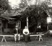 Franssons föräldrar i Gissebo 1918.