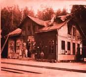 Gamleby järnvägsstation.