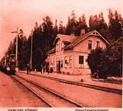 Gamleby köping järnvägstationen.