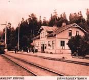 Järnvägstationen i Gamleby.