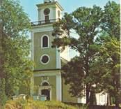 Vykort med motiv av Lofta kyrka.