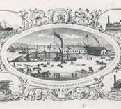 Oskarshamns dockor och mekaniska verkstad , Ur katalog från 1860-talet. Blev sedermera Oskarshamnsvarvet.