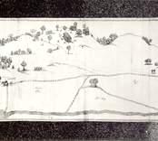 Gammal karta över  Rumma koppargruva från 1638