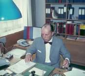 Rektor Hans Matsson på sitt kontor på Västerviks gymnasium.