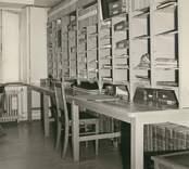 Interiör från tingshuset i Gamleby som det såg ut i slutet på 1950-talet.