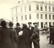 Motiv från Oskarshamn. I bakgrunden ligger ett slakteri.