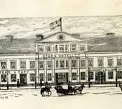 Teckning av Stadshotellet i Oskarshamn.
