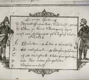 Teckning från Rumma koppargruva 1638.