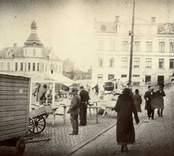 Torghandel vid Lilla torget i Oskarshamn.