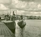 Ubåtar vid kaj i Västervik.