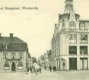 Vy av Storgatan, Västervik.