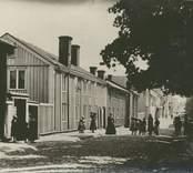"""Vy från """"Gamla norr"""" i Västervik."""
