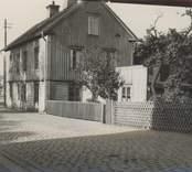 Vy från Alträsket, vid Verkstadsgatan i Oskarshamn.