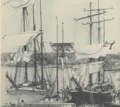 Vy från hamnen i Oskarshamn.