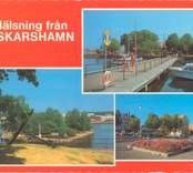 Ett vykort med motiv från Oskarshamn.