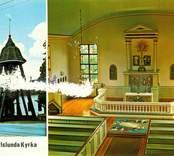 Småland, Kalmar län, Kalmar kommun, Karlslunda sn.Påryd. Karlslunda kyrka. Dominerande stilepåk exteriör Nyklassicism. Dominerande stilepåk interiör Nyklassicism. Uppförande hela kyrkan 1816-1817.