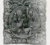 Kudde i stolen i sakristian, Kristdala kyrka, 1600-talet.