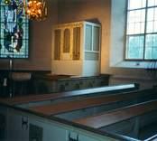 Interiör i Kristdala kyrka.
