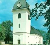 Kristdala kyrka på vykort.