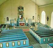 Långhuset i Kristvalla kyrka.