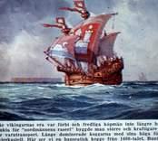 Koggen Bunte Kuh.  Koggen var vid tiden den nordeuropeiska främsta skeppskonstruktion. Genom Lübecks etablering vid mitten av 1100-talet och sammanslutningen av städerna i norra Tyskland till ett Hansaförbund, övertog Hansan en betydande stor roll när det gällde handeln över havet i norra Europa. För Hansan gällde det att göra skeppen så lastrymliga som möjligt för att stora vinster skulle kunna uppnås. De ursprungliga nordiska skeppen av vikingatyp var däremot snabba och kunde gå in till grunda stränder, men dessa var med undantag av de så kallade knarrarna, ej byggda för att kunna ta en större mängd gods ombord. Med koggarna introduceras en helt ny skeppstyp i norra Europa. Vid byggandet av koggarna introduceras tekniken kravell i Skandinavien, tidigare utövad i bland annat Medelhavsområdet. Koggarna byggdes med kravell i botten för att över gå till sedvanlig bordläggning på klink i skeppets sidor. Skeppen byggdes också på ett helt annorlunda sätt än vad fallet var för vikingaskeppen. Sågen introducerades vid tiden, i stället för att klyva fram bordsplanken med en yxa ur en stock började man såga fram dessa ur stocken. Skeppens längd låg på drygt tjugo meter, de var breda och höga och lastdryga. En enda normalstor kogg kunde ta upp emot 80 ton last. Det behövdes ordentligt med lastutrymme. I bevarade räkenskaper för åren 1398-1400 infördes från Malmö till Lübeck 32.600, 27.800 respektive 29.100 stora tunnor med sill. Lübeck var endast en av många städer som Malmö vid tiden bedrev handel med. Dessa transporter med sill har dessutom skett under en begränsad period under tidig höst.  Det första omnämnandet av en kogg är året 1206 är vid en tysk undsättningsaktion till Riga. I nordvästra Jylland har det hittills äldsta kända fyndet av en kogg grävts fram. I Bremens hamn gjordes år 1962 ett unikt fynd av en mycket välbevarad kogg. Denna kogg är 23,5 meter lång och 7,5 meter bred. 40 par spant som tillsammans med övrig förtimring utgör ett konstruktionsskelett till vilk