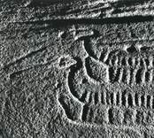 En hällristning intill Härstads gård påträffades 1926 en hällristning, varvid två skepp och cirka tio skålgropar iakttogs. 1965 upptäcktes ytterligare ristningar, svåra att urskilja. Skeppets för är försedd med eldsprutande drakhuvuden.